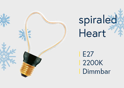 "LED Lampenserie ""spiraled Silhouette Heart"" von Bailey"