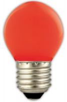 Calex LED Coloured Spherical Lampe rot | E27 |1W | 12lm | 2700K