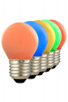 Calex LED Coloured Spherical Lampen 5er Pack bunt | E27 |1W | 12lm | 2700K Preview